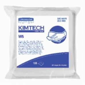 Kimtech Pure; 06179 Critical Task Dry Wiper, 9 in W, 100 Wipes, 50% Rayon/50% Polyester Spunlace, White