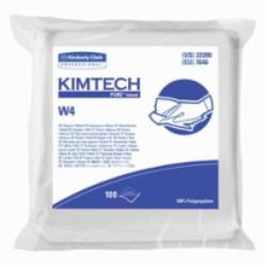 Kimtech Pure; 33390 Critical Task Dry Wiper, 9 in W, 100 Wipes, 100% Polypropylene, White