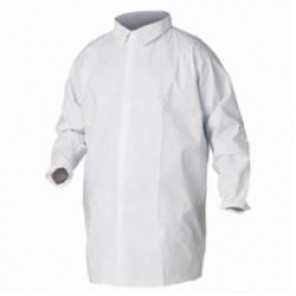 KleenGuard; 44446 Light Weight Particle Protection Lab Coat, 3XL, White, Unisex, Polypropylene