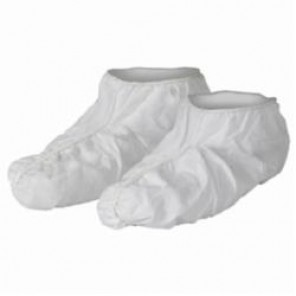 KleenGuard; 44490 Liquid and Particle Protection Shoe Cover, Universal, White, Fully Elastic Closure, Film Laminate
