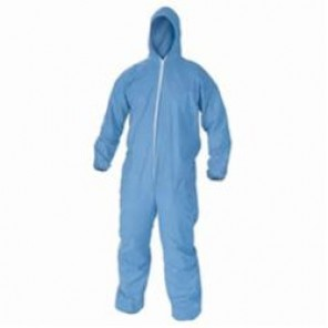KleenGuard; 45326 Disposable Flame Resistant Coverall, 3XL, 54 - 56 in Chest, 32 in Inseam, Blue, Polyester Spun