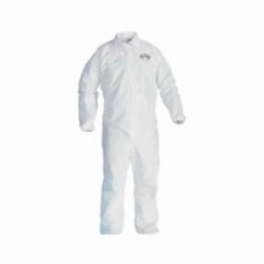 KleenGuard; 49103 Breathable Light Weight Disposable Coverall, L, 28-1/4 in Chest, 40 in Inseam, White, SMS Fabric