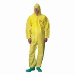 Lakeland® C1S428Y-4X ChemMax® 1 Protective Coverall With Attached Hood, Yellow, 4XL, 25 per Case