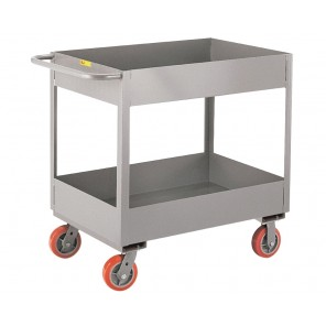 "DEEP TRAY TRUCKS, Cap. (lbs.): 3600, Shelf Size W x L: 18 x 30, Wheel Size: 6"", Tray Depth: 6"""