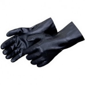 Liberty Glove 2623 Chemical Resistant Gloves, Men's, Black, PVC