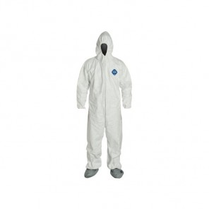 Tyvek Coverall with attached Hood and Boots