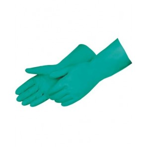"2970SL Green Nitrile, Flock Lined Glove, 13"" Length, 15-Mil, per Dozen"
