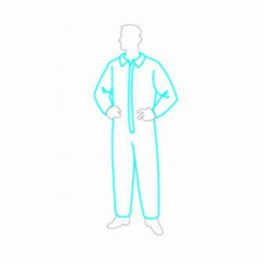 Permaguard Coverall-Open wrists & ankles zipper front closure with storm-fly 25/Case