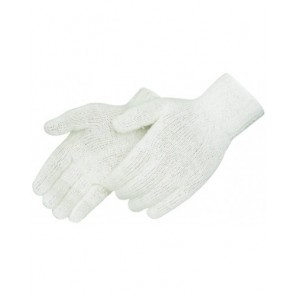 Liberty P4517Q Cotton/Polyester String Knit Reversible Gloves, Natural White, Regular Weight, per Dozen