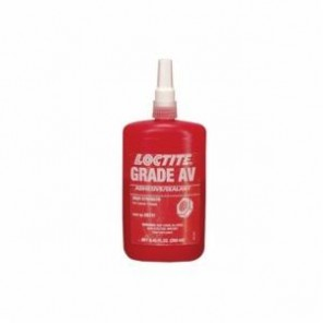Loctite® 08741 High Strength Threadlocker, 250 mL Bottle, Liquid, Red, 1.068
