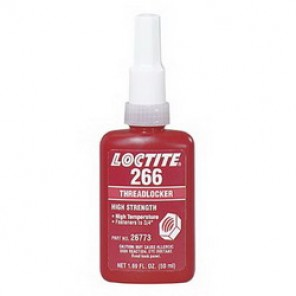 Loctite® 26773 High Strength High Temperature Thread Sealant, 50 ml Bottle, Liquid, Red/Orange, 1.1937