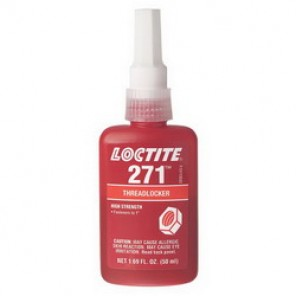 Loctite® 27141 High Strength Low Viscosity Thread Sealant, 50 ml Bottle, Liquid, Red, 1.1