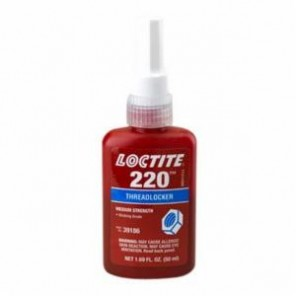 Loctite® 39186 1-Part Medium Strength Threadlocker, 50 mL Bottle, Liquid, Blue, 1.08
