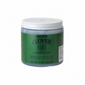 Loctite® Clover® 39528 Grade 2A Very Fine Sharpening Compound, 1 lb Jar, Liquid/Paste, Gray