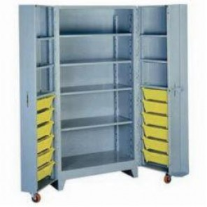 LYON® 1127 All Welded Bin Cabinet, 27 in L x 39 in W x 76 in H, 12 Bins