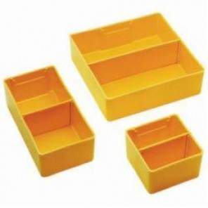 LYON® 240362 Removable Drawer Bin, 2 in H x 3 in W x 6 in D, 32 Qty To Fill Standard Drawer, Plastic, Yellow