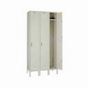 LYON® 5022-3 Locker, 60 in H x 12 in W x 18 in D, 1 Tiers, 3 Compartments