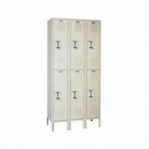 LYON® 5222-3 Wardrobe Locker, 36 in H x 12 in W x 18 in D, 2 Tiers, 6 Compartments