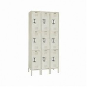 LYON® 5283-3 Wardrobe Locker, 24 in H x 12 in W x 15 in D, 3 Tiers, 9 Compartments