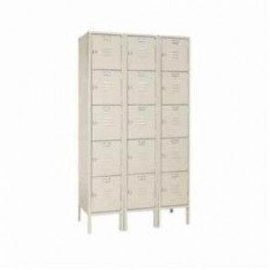 LYON® 5312-3 Box Locker, 12 in H x 12 in W x 15 in D, 5 Tiers, 15 Compartments