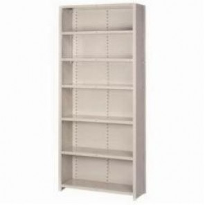 LYON® 8091 Add-On Traditional Flanged Closed Shelving Section, 7 Shelves, 84 in H x 36 in W x 18 in D, 750 lb Shelf