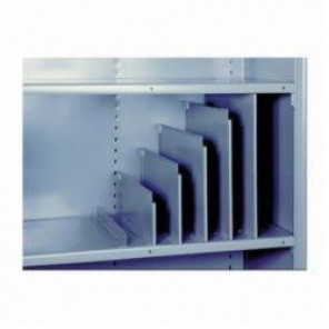 LYON® 8621 Shelf Divider, 9 in H x 12 in D, For Use With 8000 Series Shelving System, Dove Gray and Putty