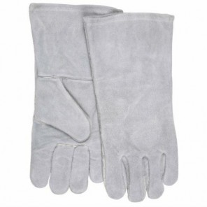 Memphis Welders Glove Gray Reg Shoulder Grade Cotton Lined Wing Thumb, M