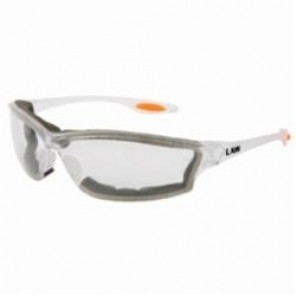Crews LW310AF Protective Glasses With Side Shields, Universal, Non-Metal Framed Clear Frame, Anti-Fog Clear Lens