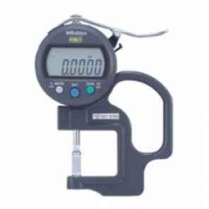 Mitutoyo 547 Imperial/Metric Blade Anvil Digital Thickness Gage, 0 to 0.47 in, 30 mm Throat Depth, Steel