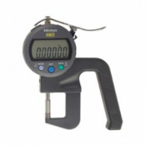 Mitutoyo 547 Imperial/Metric Flat Anvil High Accuracy Digital Thickness Gage, 0 to 0.47 in, 20 mm Throat Depth