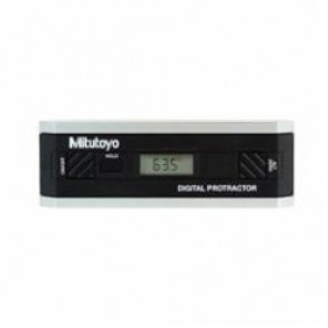 Mitutoyo 950 Rectangular Head Digital Protractor Without Data Output, 360 deg, 153 mm L, Aluminum Frame