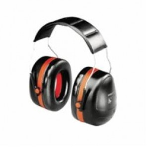 Peltor™ Optime™ 105 Dielectric Ear Muffs, 30 dB, Over-The-Head, Black/Red, ABS