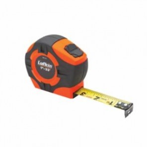 Lufkin® PHV1312N Measuring Tape, 3/4 in W x 12 ft L Blade, Hi-Viz Orange, Measures by Inch
