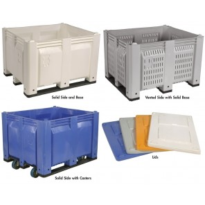 """DECADE MACX® SOLID CONTAINERS, Container Type: Solid Side and Base, Size L x W x H: 48 x 40 x 31"""", Blue"""