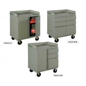 "MOBILE SHOP CABINETS, 1 Cabinet, 2-6"" Drawers, 1-12"" Drawer, Size W x D x H: 29 x 22 x 34"""