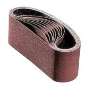 PFERD 49251 Portable Coated Abrasive Belt, 24 in L x 3 in W, 50/Medium, Aluminum Oxide Abrasive, Polyester Backing