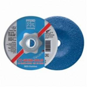 PFERD CC-GRIND®-SOLID Performance Line SG Unthreaded Coated Abrasive Disc, 7 in Dia, 7/8 in 10/Box