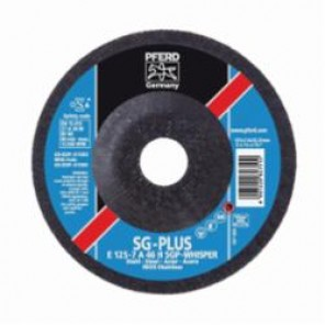 PFERD Special Line SG-PLUS Whisper Depressed Center Wheel, 5 in Dia x 1/4 in THK, 7/8 in, A46 Grit