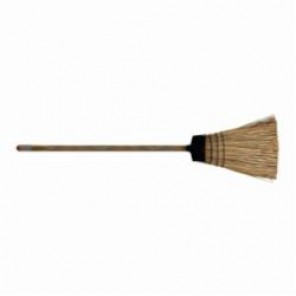 PFERD 89378 Whisk Broom, 10 in OAL, 4-1/2 in Trim, 4-1/2 in, Selected Corn Bristle, Metal Handle 12/Box