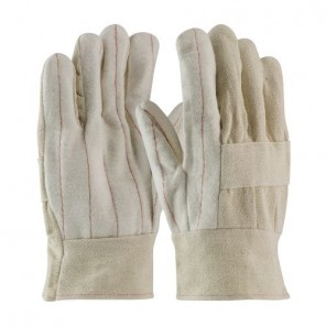 PIP® 94-924 Men's Premium Grade Hot Mill Gloves, Cotton/Canvas, Natural, Cotton, Open Band Top Cuff, 10.6 in L, Universal Size