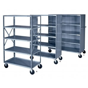 INDUSTRIAL SHELF TRUCK, No. of Shelves: 5, Closed Ends