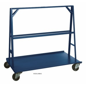 "A FRAME TRUCK - 550, Deck Size W x L: 24 x 36"", Caster Type: All Swivel Standard 5"" Polyurethane"