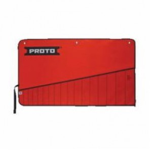 Proto® J25TR36C Tool Roll, 17 Pockets, For Use With J1200RM-T500 Combination Wrench Set, Canvas/Vinyl, Red