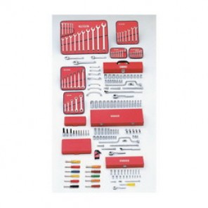 Proto® J99530 SAE Master Tool Set, 194 Pieces, For Use With 1/8 - 1-1/4 in Fasteners, 1/4 in, 3/8 in, 1/2 in Drive