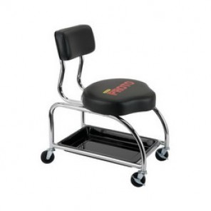 Proto® JFC1010 Heavy Duty Tool Trolley With Backrest, 500 lb, 16 in L x 16 in W x 18 in H x 3 in Caster