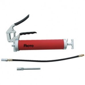 Proto® JFC33HD-TT Heavy Duty Pistol Grip Tethered Grease Gun, 14 oz Cartridge, 3600 psi Operating, 2 ml Output