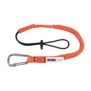 Proto® JLAN15LBSSCAR Tool Lanyard, 32 in Working Length, 48 in Extended Length, 15 lb, Steel Hardware, Nylon Liner