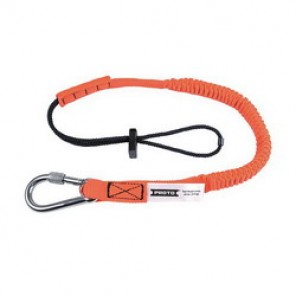 Proto® JLAN15LBSSRP Tool Lanyard, 32 in Working Length, 48 in Extended Length, 15 lb, Steel Hardware, Nylon Liner