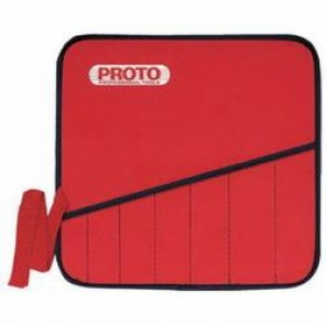 Proto® JSBV8SP Tool Roll, 8 Pockets, For Use With JSBV-8S Ratcheting Wrench Set, Red, Black Chrome