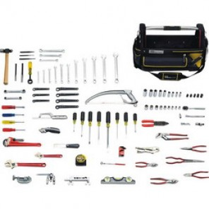 Proto® JTS-0105HVAC SAE Basic Tool Set, 105 Pieces, For Use With 3/8 - 7/8 in Fasteners, 3/8 in Drive
